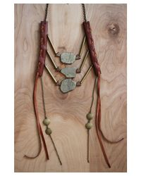 Love Leather - Multicolor Bronze Dynasty Necklace - Lyst