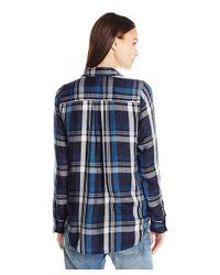 Lucky Brand - Blue Button Up Plaid Shirt - Lyst