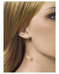 Jewelista - 18k Yellow Gold Diamond Drop Earrings - Lyst