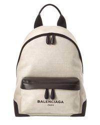 Balenciaga - Multicolor Navy Canvas Backpack - Lyst