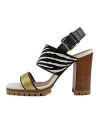 Marni | Multicolor Samsu03g11 Women Open Toe Leather Multi Color Sandals | Lyst