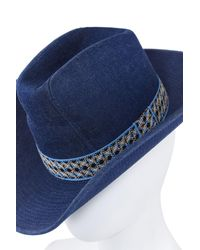 Unbranded - Blue Vintage Men's Denim Hat 1970's for Men - Lyst
