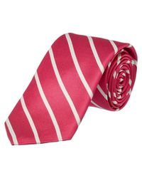 Ike Behar - Hot Pink Sunday Stripe Silk Tie for Men - Lyst
