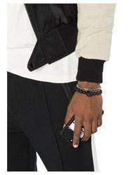 Alexander McQueen - Men's Black Metal Bracelet for Men - Lyst