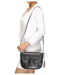 Ralph Lauren - Women's Black Leather Shoulder Bag - Lyst