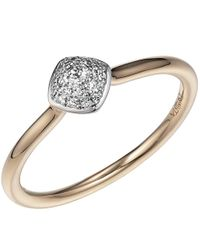 Jewelista - 14k Yellow Gold Diamond Pave Stacking Ring - Lyst
