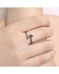 Adornia - Metallic Champagne Diamond And Sterling Silver Aurora Ring - Lyst