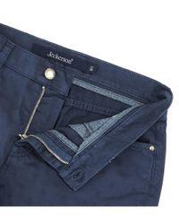 Jeckerson - Women's Blue Cotton Pants - Lyst