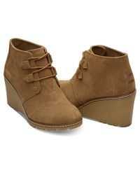 TOMS - Brown Women's Desert Wedge Casual Shoe - Lyst