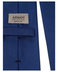Armani - Men's Blue Silk Tie for Men - Lyst