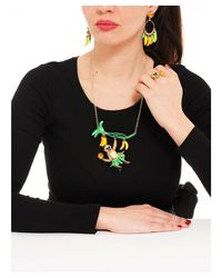 Les Nereides - Pink Kind And Happy Francis The Flamingo Necklace - Lyst