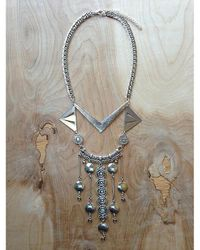 Love Leather | Multicolor Silver Palace Necklace | Lyst