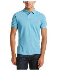 Ralph Lauren | Blue Polo Custom Fit Polo Shirt for Men | Lyst