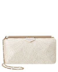 Jimmy Choo - White Ellipse Sparkly Lace Clutch - Lyst