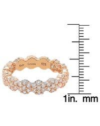 Suzy Levian - Metallic Sterling Silver Cubic Zirconia Floral Eternity Band - Rose - Lyst