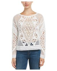 Ella Moss - Natural Esmeralda Crochet Sweater - Lyst
