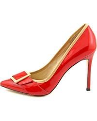 Carolinna Espinosa - Red Saunderson Women Pointed Toe Patent Leather Heels - Lyst