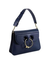 J.W. Anderson - Women's Blue Leather Shoulder Bag - Lyst