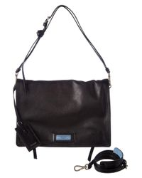 Prada - Black Etiquette Calf Leather Shoulder Bag - Lyst