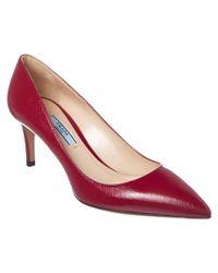 Prada - Multicolor Saffiano Patent 65 Pointy-toe Pump - Lyst