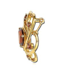 Suzy Levian - Brown Cubic Zirconia Sterling Silver Chocolate Brooch - Lyst