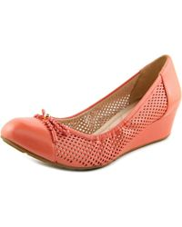 Cole Haan - Tali Grand Lac Wdg 40 Women Open Toe Synthetic Pink Wedge Heel - Lyst