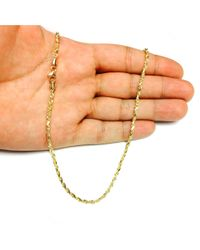 JewelryAffairs - 14k Yellow Gold Solid Diamond Cut Royal Rope Chain Necklace, 2.75mm, 24 Inch - Lyst