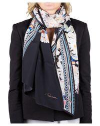 Roberto Cavalli - Black Women's Floral Print Silk Scarf Large - Lyst
