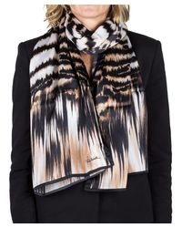 Roberto Cavalli   Brown Women's Animal Print Silk Scarf Large   Lyst