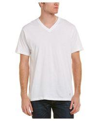 Original Penguin - White Set Of 3 Classic Fit V-neck T-shirt for Men - Lyst