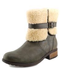Ugg - Brown Blayre Ii Round Toe Leather Winter Boot - Lyst