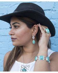 Pangea Mines - Blue Oval Turquoise Leaf Drop Earrings - Lyst