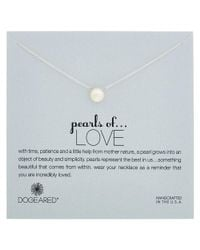 Dogeared - Metallic Pearls Of Love Silver 4.5-5.5mm Pearl Necklace - Lyst