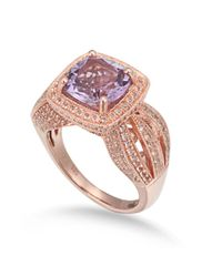 Suzy Levian - Metallic Sterling Silver 4.59 Cttw Purple Amethyst Ring - Lyst