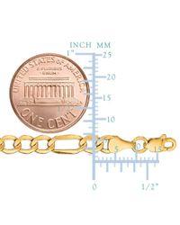 JewelryAffairs - 10k Yellow Gold Hollow Figaro Bracelet Chain, 4.6mm, 7 for Men - Lyst