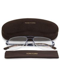 Tom Ford - Aviator Eyeglasses Ft5370 090 53 | Blue Frame - Lyst