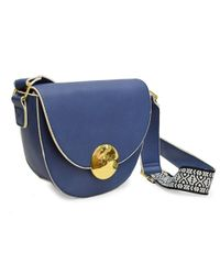 Adrienne Vittadini - Blue Flap Top Crossbody With Guitar Strap - Lyst