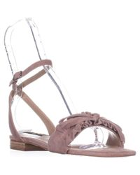 Steve Madden - Pink Steven Cassiel Flat Sandals, Blush Suede - Lyst