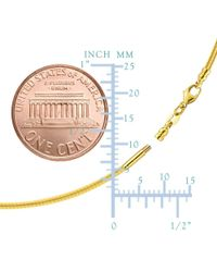 JewelryAffairs - Round Omega Chain Necklace With Screw Off Lock In 14k Yellow Gold, 1.5mm - Lyst