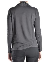 Les Copains - Gray Women's Grey Viscose Jumper - Lyst
