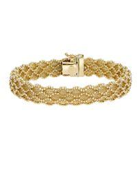 JewelryAffairs - 14k Yellow Gold And Diamond Cut Bead Bracelet, 7.5 - Lyst