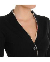 Burberry - Women's Black Wool Cardigan - Lyst