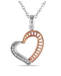 Catherine Malandrino - Metallic Diamond Heart Pendant With Chain I - Lyst