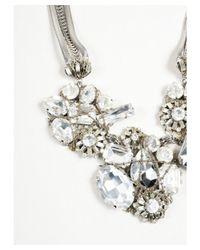 Erickson Beamon - Metallic 1 Silver Crystal Cluster Multi Strand Bib Necklace - Lyst