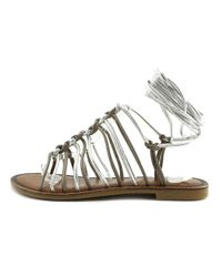 Vince Camuto - Metallic Layla Open Toe Leather Gladiator Sandal - Lyst