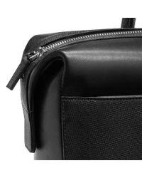 Montblanc - Men's Black Leather Messenger Bag for Men - Lyst