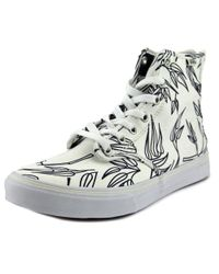 Vans | White Camden Hi Zip Women Round Toe Canvas Skate Shoe for Men | Lyst