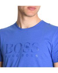 BOSS - Men's Blue Cotton T-shirt for Men - Lyst