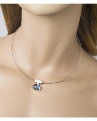Jewelista - Interchangeable Blue Topaz & Silver Pendant - Lyst