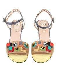 Fendi - Metallic Women's 8x6441sp0f07ck Multicolor Leather Sandals - Lyst
